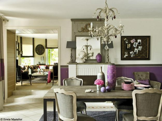 22 french country decorating ideas for modern dining room - Decoration table salle a manger ...