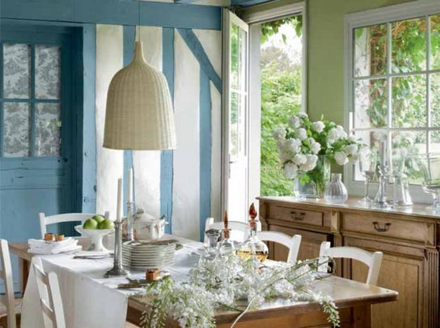 country dining room decor. Light Blue Color And Wooden French Country Home Furniture For Dining Room  Decorating 22 Country Decorating Ideas Modern Dining Room Decor