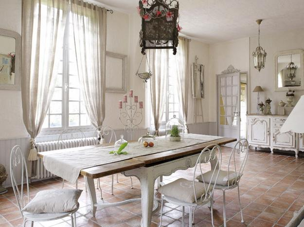 22 french country decorating ideas for modern dining room for Modern french country design