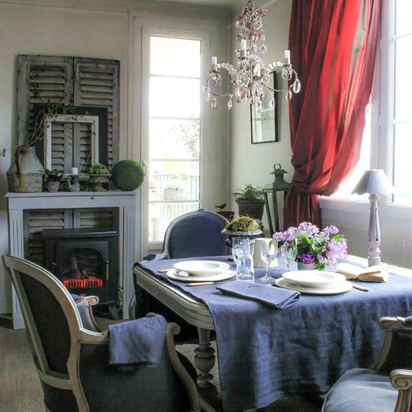 22 french country decorating ideas for modern dining room for Country dining room decor