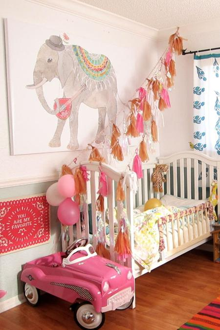 Beautiful Girls Bedroom Decorating Ideas Blending Pink and Blue
