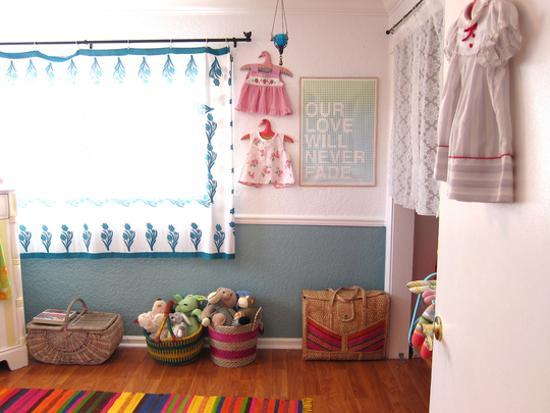 kids toys storage ideas, colorful baskets