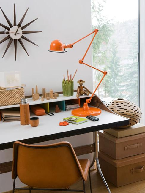 Orange Desk Lamp, Home Office Decor