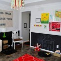 red color combination for kids room decorating