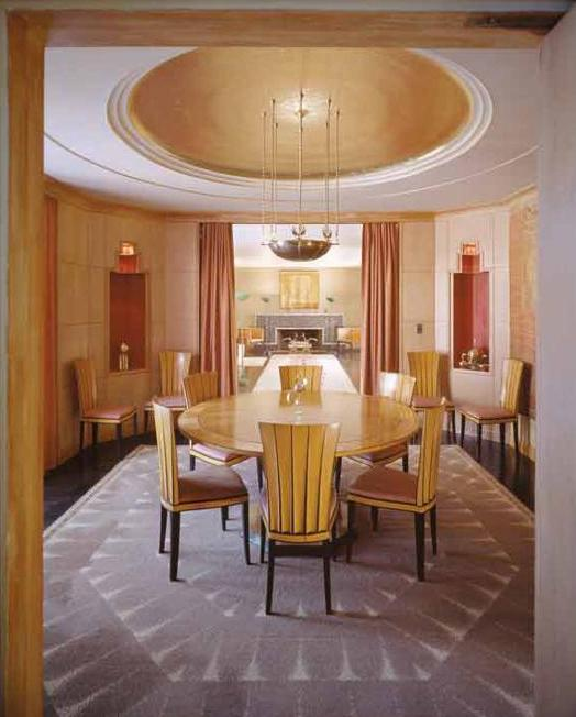 art deco furniture and lighting for dining room decorating