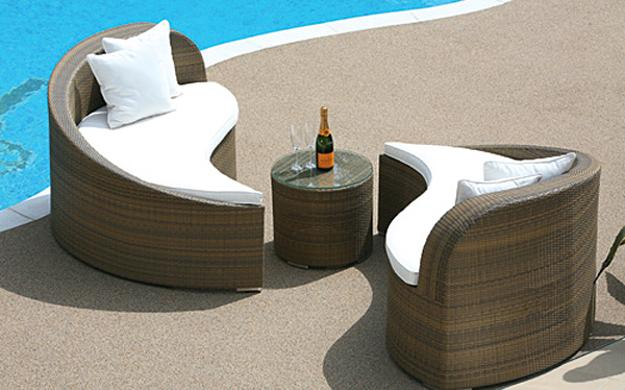 contemporary furniture for pool patio design