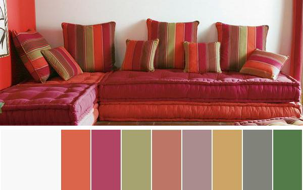 Selecting summer decorating color schemes for your rooms - Brown and violet combination ...