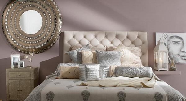 Bedroom Decorating In Indian Style, Neutral Colors And Ethnic Interior Decor