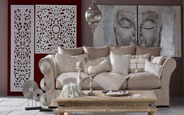 Living Room Furnishings, Neutral Color Combination And Ethnic Interior Decor Part 88