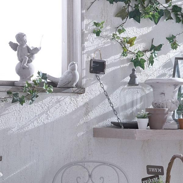 white painting ideas and green indoor plants
