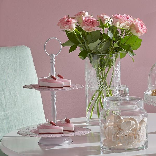 white furniture and pink wall paint for dining room