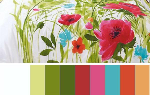 wonderful pink green living room color schemes | Selecting Summer Decorating Color Schemes for Your Rooms ...
