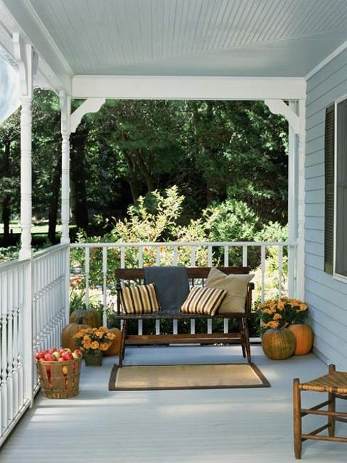 Front Porch Bench And Table