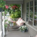 porch decorating ideas, outdoor furniture and fabrics