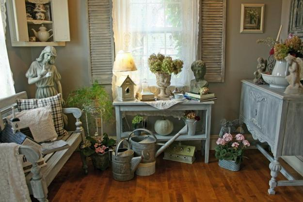 Shabby chic decorating ideas inspired by beautiful flowers for Style shabby chic decoration