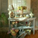 shabby chic ideas inspired by beautiful flowers and garden decorations in vintage style