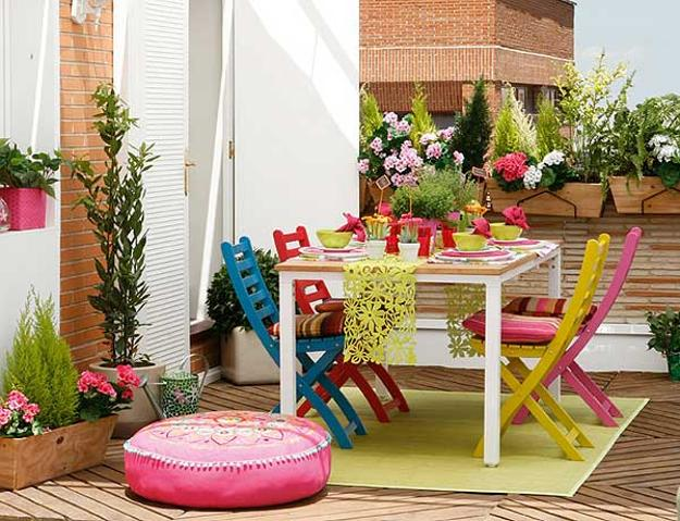 Colorful Dining Table Centerpieces: 2 Bright Summer Party Table Decor Ideas, Flower