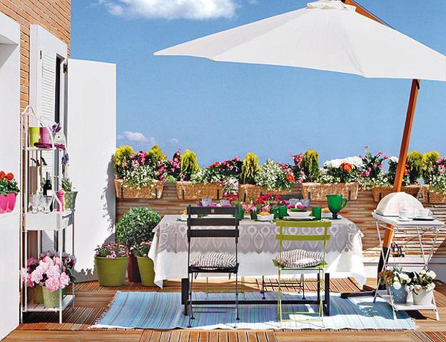 2 bright summer party table decor ideas flower - Terrazas con encanto ...