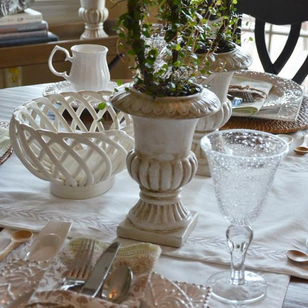 spring decorating and table setting