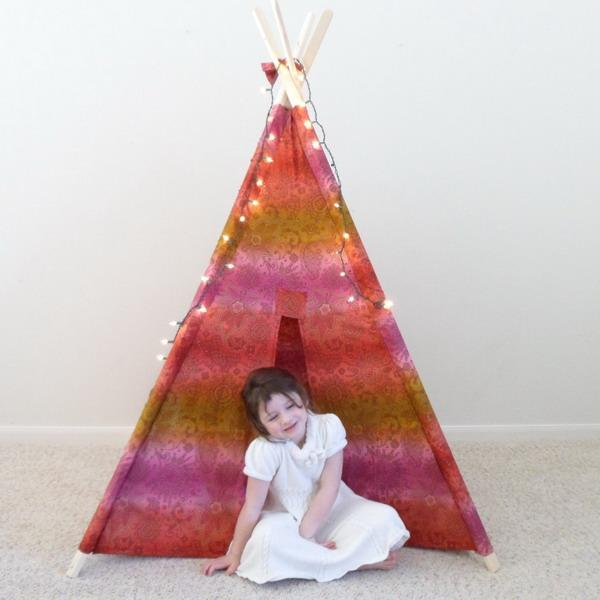teepee with led lights for children bedroom