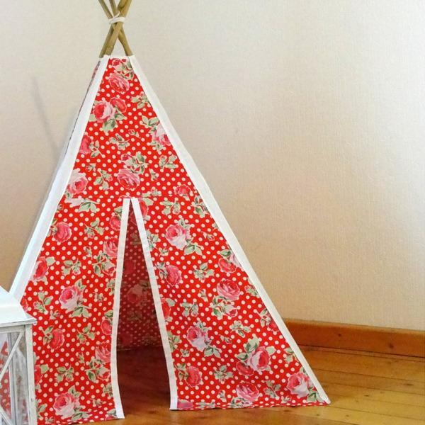 bright teepee in red color
