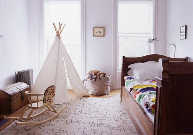 white teepee curtains for light kids room decorating