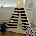 teepee tent with led lights for kids room decorating
