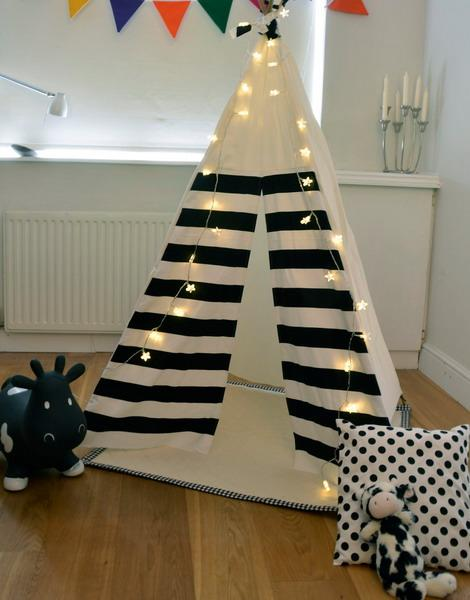 teepee tent with led lights for kids room decorating & 20 Eco Friendly Teepee Designs Adding Coziness to Kids Room ...