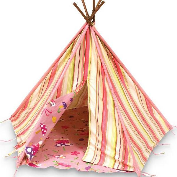yelloe and red atriped curtain fabric for teepee
