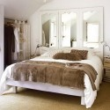 modern bedroom decor with mirrors
