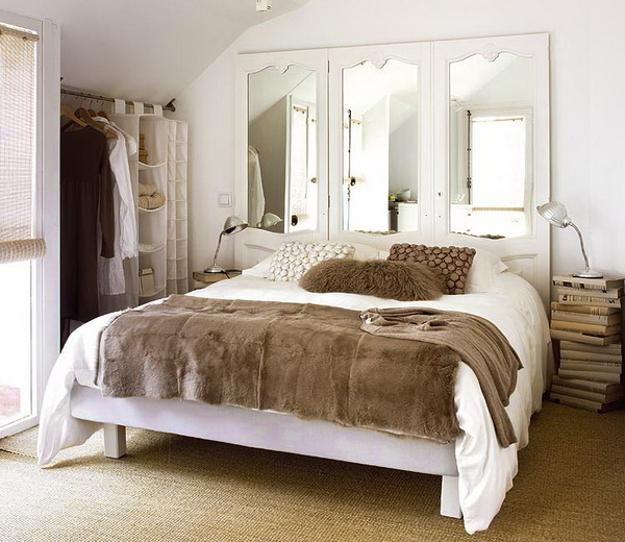 bedroom decorating with wall mirrors and mirrored furniture create