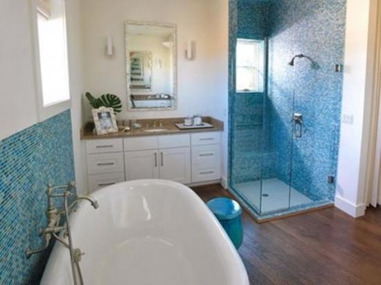 30 modern bathroom decor ideas blue bathroom colors and Contemporary bathroom colors