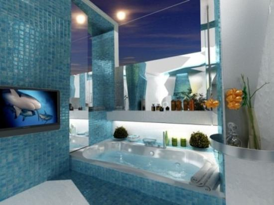 Coastal Bathroom Tile Ideas: 30 Modern Bathroom Decor Ideas, Blue Bathroom Colors And