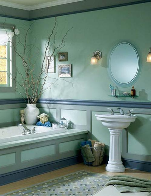 30 Modern Bathroom Decor Ideas, Blue Bathroom Colors and Nautical
