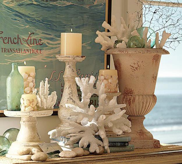 Enhancing Nautical Decor Theme With Sea Shell Crafts And Images