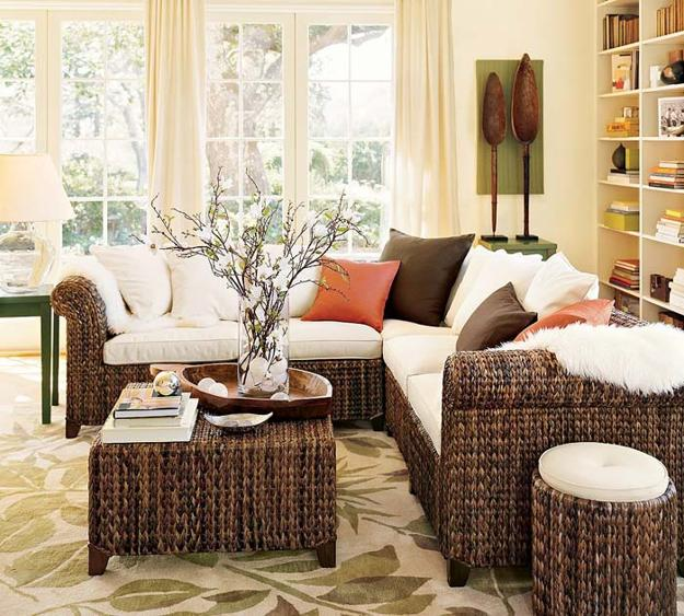Decor House Furniture: 25 Ideas For Modern Interior Decorating With Rattan