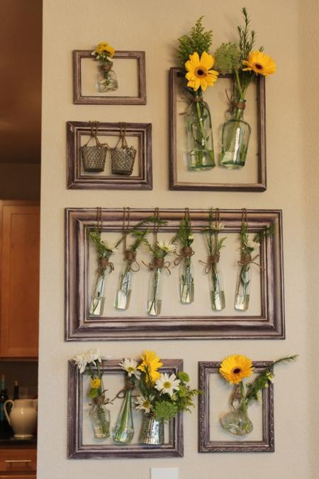 Modern Kitchen Decorating Ideas, Creative And Simple Summer Decorating With  Plants And Flowers