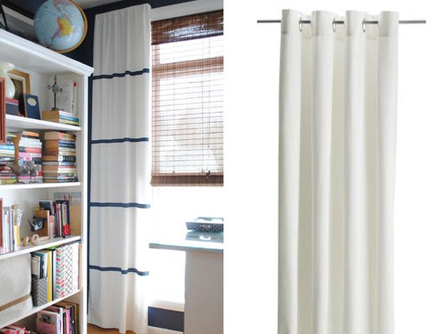 window curtains with stripes