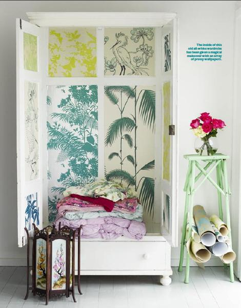 25 Furniture Decoration Ideas Personalizing Shelves And Cabinets With Modern Wallpaper Patterns
