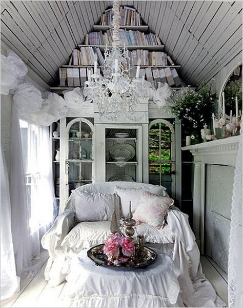 Shabby chic ideas turning garden house into beautiful summer retreat gorgeous shabby chic ideas for garden room decorating in white workwithnaturefo