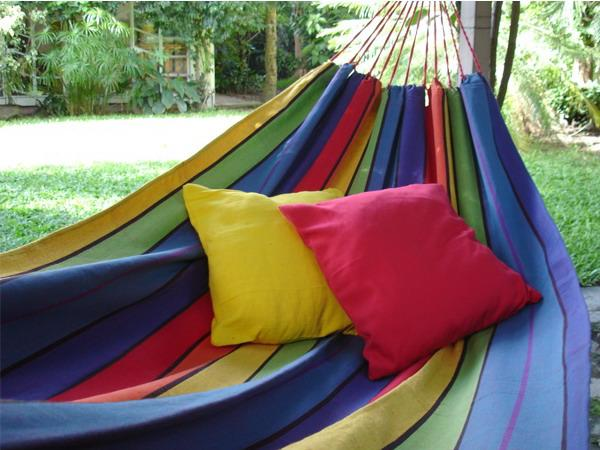 bright pillows and hammock colorful backyard ideas perfect pillows for hammock decorating adding  fort to backyard      rh   decor4all