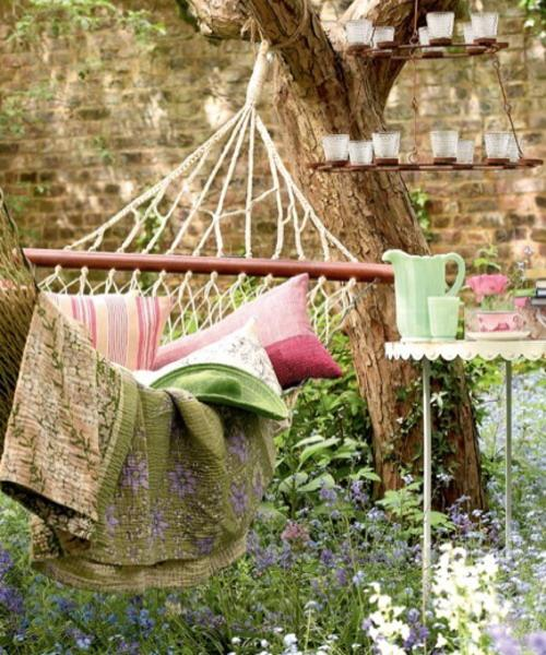 Backyard Hammock Ideas : hammockpillowsgardenbackyardideas5jpg