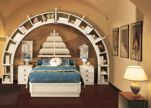 Nautical decor ideas kids room decorating with ship wheels for Nautical bedroom decor