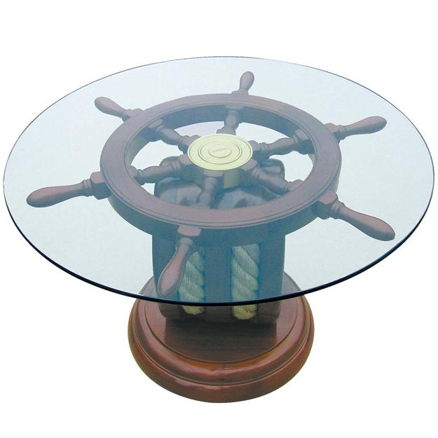 Unique Nautical Decor Ideas Enhanced by Vintage Ship Wheels and Handmade Themed Decorations