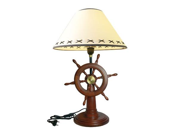interior decoration with nautical decor accessories Ship wheel