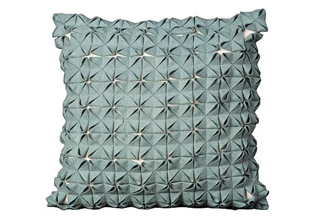 making origami pillows and adding unique texture to interior