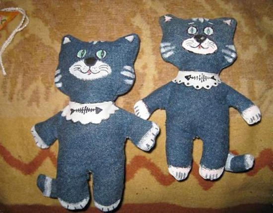 Игрушки из старых джинс своими руками 32