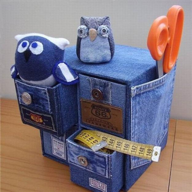 Recycling old jeans for kids toys and decorative for Denim craft projects