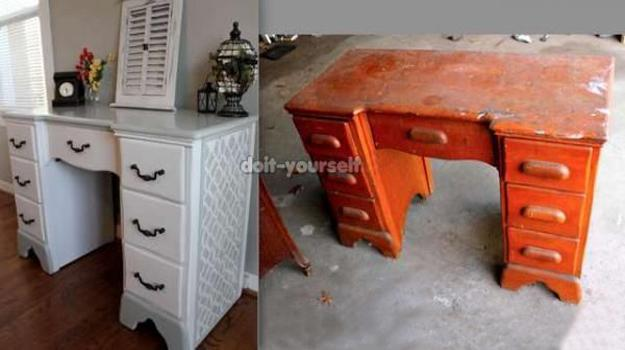 25 Restoration And Furniture Decoration Ideas To Recycle And Upcycle Wood Furniture Pieces