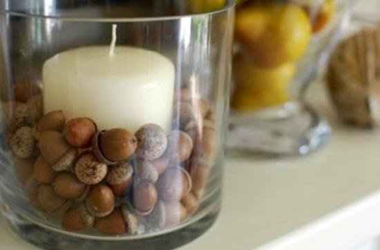 Glass Beads, Handmade Acorn Decorations